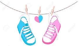 disegno scarpe azzurre e rosa