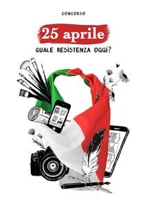 copertina del bando con bandiera italiana e altri oggetti