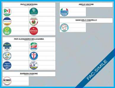 scheda elettorale elezioni comunali  - interno