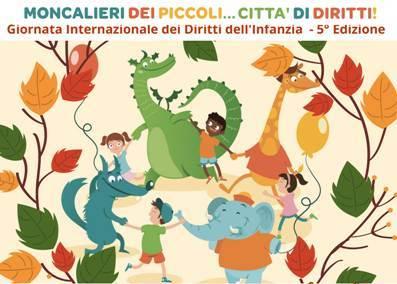 disegno girotondo bambini e animali