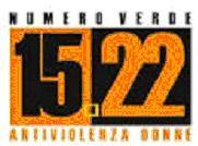 locandina con numero 1522 antiviolenza donne