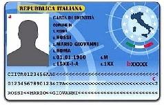 disegno carta identità elettronica