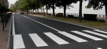 foto strisce pedonali su viale del Castello