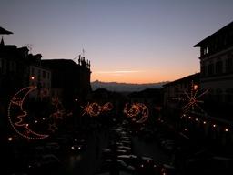 Piazza Vittorio Emanuele II al tramonto